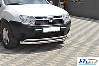 Renault Duster 2008+ гг. Передняя защита ST017 (нерж.)