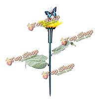 Солнечная энергия игрушки подсолнечника летают бабочки сад двор горшки