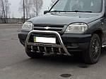 Chevrolet Niva Кенгурятник WT004 (нерж)