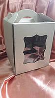 Коробка для пасхи-кексов 170*170*210 бурая