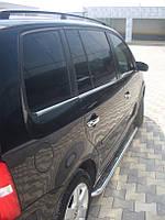 Volkswagen Touran 2010+ гг. Боковые площадки Premium (2 шт, нерж) 42 мм