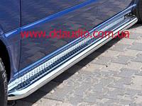 Opel Movano 2010+ гг. Боковые площадки Premium (2 шт., нерж.) 42 мм, короткая база