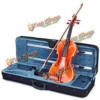 Глянцевая тигринский язык играет скрипка 4/4 ручной работы ели с дело лук канифоль
