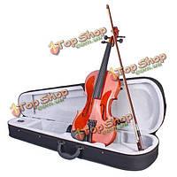 Красочные скрипка 4/4 акустическая скрипка не исчезать с корпуса и лук