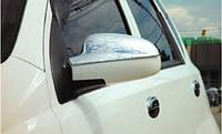 Chevrolet Aveo T200 2002-2008 гг. Накладки на зеркала Верхушка (2 шт, пласт)