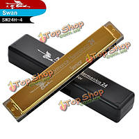 Swan SW24H-4 24 Holes Golden Senior Performance Harmonica Key of C