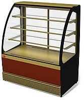 Кондитерская холодильная витрина Veneto VS-1,3 (0...+7С, стеклопакеты)