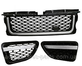 Range Rover Sport,РЕШЕТКА РАДИАТОРА КОМПЛЕКТ,Black Silver  Новый