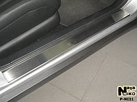 Nissan Teana 2008-2014 гг. Накладки на пороги Натанико премиум (4 шт, нерж.)