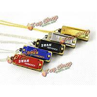 Лебедь 4 дыры 8 тон ожерелье стиль мини - губная гармоника ключ с
