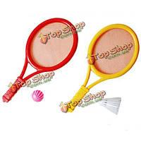 Детей спорт на открытом воздухе игрушки из пластика набор для бадминтона тенниса набор