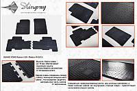 SsangYong Rexton II 2008+ и 2013+ гг. Резиновые коврики (4 шт, Stingray Premium)