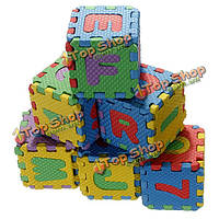 Детские красочные EVA пены коврик алфавит буквы цифры головоломки
