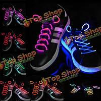 19 классный цвет для выбрать LED флеш загораются светящиеся шнурки партии