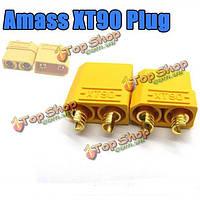 Накопите xt90 мужские женские штепселя соединителей пули для емкостно-резистивной батареи