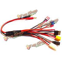 Многофункциональный зарядного устройства, 4.0mm банан адаптер разъем T тамия футаба TrX xt60 ec3 просто проволоки