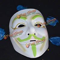 Светящиеся Хэллоуин карнавал реквизит маску вендетту против светящийся слово