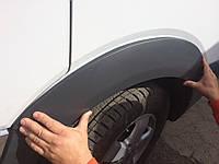 Volkswagen Crafter 2006+ и 2011+ гг. Накладки на колесные арки (4 шт, пластик)