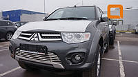 Mitsubishi Pajero Sport 2008-2015 гг. Передняя решетка-защита