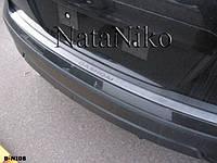Nissan Qashqai 2007-2010 гг. Накладка на задний бампер Натанико (нерж.)
