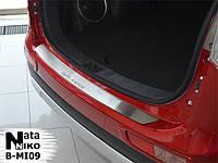 Mitsubishi Outlander 2013+ и 2015+ гг. Накладка на задний бампер Натанико (нерж.)