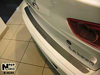 Mitsubishi Lancer X 2008+ гг. Накладка на задний бампер SD Натанико (нерж.)