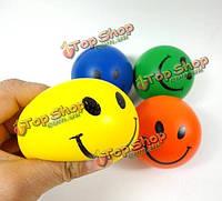12шт рука снятия стресса выдавите шарик пены усмешки шары игрушки