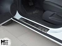 Opel Corsa C 2000+ гг. Накладки на пороги Натанико премиум (4 шт, нерж.)