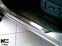 Nissan X-trail T31 2007-2014 гг. Накладки на пороги Натанико (4 шт, нерж.) Premium - лента 3М, 0.8мм