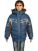 Детская куртка зимняя Синий, 7