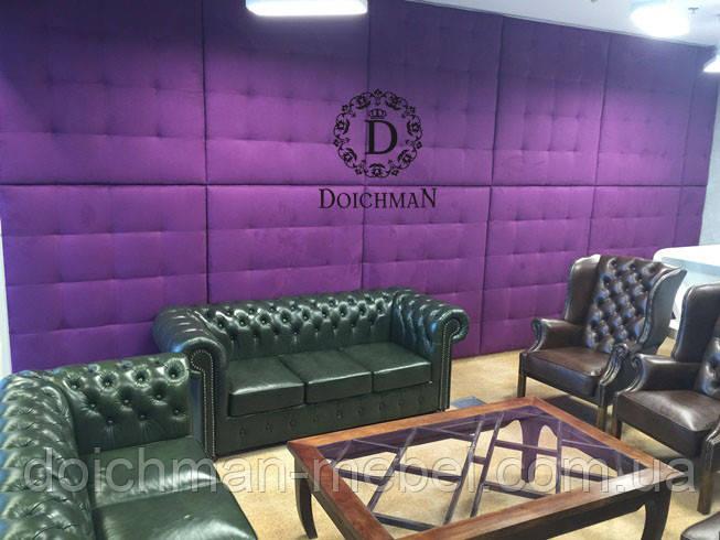 Кожаные настенные панели для офиса, комнаты переговоров