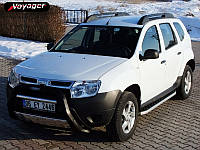 Renault Duster 2008+ гг. Боковые площадки BlackLine (2 шт, алюминий)