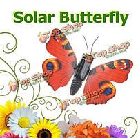 Солнечный приведенный в действие креативный дизайн вращение моделирование бабочка черный красный