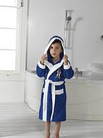Халат махровый синий  для мальчика 9-10 лет,  Philippus