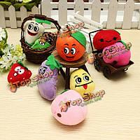 Бархат милых смешных фруктов овощей пальчиковые куклы комплект для малышей