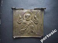 Икона-ладанка Святой Николай латунь часть складня