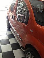 Fiat Fiorino/Qubo 2008+ гг. Боковые площадки MsLine Omsa (2 шт, алюм.)