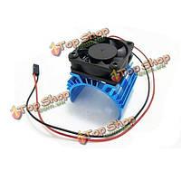 Металлический теплоотвод 5В Вентилятор охлаждения для 1/10 автомобилей 3650 540 мотор