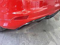 Ford Focus III 2011+ и 2015+ гг. Накладка на задний бампер HB (под покраску)