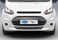 Ford Connect 2014+ гг. Накладки на передний бампер (4 шт, нерж)