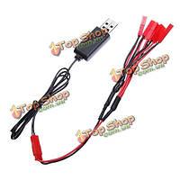 3.7В LiPo аккумулятор USB зарядное устройство с jst разъем 1 до 5 зарядный кабель
