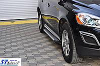 Volvo XC60 2009-2017 гг. Боковые площадки Allmond (2 шт., алюминий)