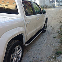 Volkswagen Amarok Боковые площадки Tayga V1 (2 шт., алюминий)
