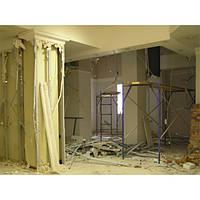 Демонтаж стен из гипсокартона