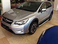 Subaru Outback 2009-2014 гг. Боковые площадки Fullmond (2 шт, алюм)
