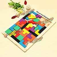 Красочные деревянные логические головоломки для детей