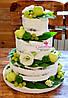 """Лучший свадебный  торт  """"Naked cake"""" с фруктами и цветами в стиле рустик"""