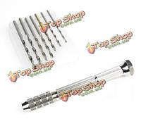 Manwah 2148 инструменты моделирования двуглавый точная ручная дрель набор 7