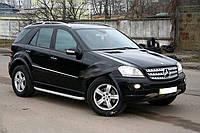 Mercedes ML klass W164 Боковые площадки Fullmond (2 шт., алюминий)