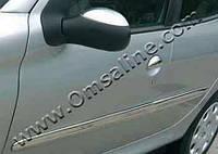Peugeot 206 1998-2012 гг. Накладки на зеркала (2 шт) Libao - Хромированный пластик